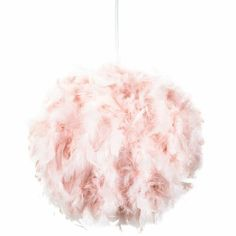 Contemporary and Unique Large Pink Real Feather Decorated Pendant Light Shade by Happy Homewares from Happy Homewares :: Buy from Haysom Interiors on The UK High Street Feather Light Shade, Feather Lamp, Light Shades, Ceiling Shades, Floor Lamp Shades, Ceiling Rose, Small Pendant Lights, Pendant Lighting, Chandelier