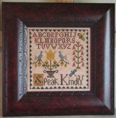 Speak Kindly - Cross Stitch Pattern