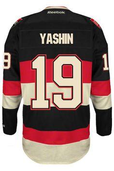 Ottawa Senators VINTAGE Alexei YASHIN #19 *C* Official Third Reebok Premier Replica NHL Hockey Jersey (HAND SEWN CUSTOMIZATION)
