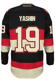 Ottawa Senators VINTAGE Alexei YASHIN #19 *C* Official Third Reebok Premier Replica NHL Hockey Jersey (HAND SEWN CUSTOMIZATION)