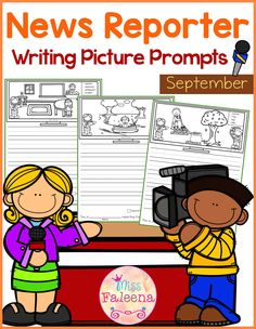This product contains 30 pages of picture prompts worksheets. This product is suitable for kindergarten and first grade students. Children are encouraged to use thinking skills by becoming news reporter while improving their writing skills throughout the month.  Kindergarten | Kindergarten Worksheets | First Grade | First Grade Worksheets | Picture Prompts | Writing Prompts | Picture Prompts Worksheets | Picture Prompts Literacy Centers | Picture Prompts Printables