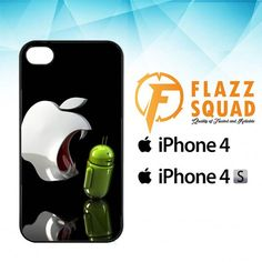 Apple Vs Android Logo E1043 iPhone 4|4S Case