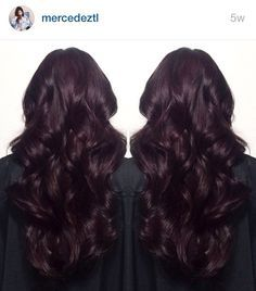 Dark burgundy / midnight ruby hair