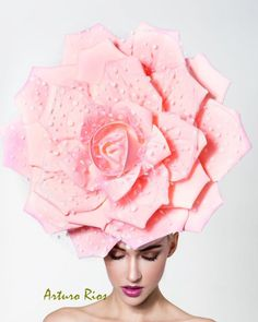 4bf5d440d31 Couture pink rose with polkadots