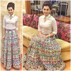 """No doubt Bridal lehenga which is a dream outfit of every girl . But after few years of marriage a question popup """"How to reuse bridal lehenga""""? Lehenga Designs, Indian Designer Outfits, Indian Outfits, Skirt Fashion, Fashion Dresses, Hijab Fashion, Men's Fashion, Lehnga Dress, Lehenga Suit"""