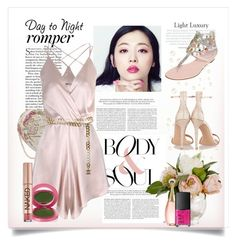 """""""Day to Night Romper"""" by conch-lady ❤ liked on Polyvore featuring Again, Chanel, René Caovilla, Lipstick Queen, Urban Decay, Christian Dior, Gianvito Rossi, NARS Cosmetics, DayToNight and romper"""