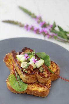 Brioche perdue foie gras poelé aux fruits secs4 BRIOCHE PERDUE, FOIE GRAS POELÉ AUX FRUITS SECS ET CHUTNEY DABRICOTS