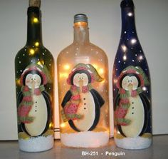 All of these beer bottle crafts are considered the most lovable tips to repurpose glass containers, all of these relatively easy DIYs make. Wine Bottle Art, Painted Wine Bottles, Lighted Wine Bottles, Painted Wine Glasses, Wine Bottle Crafts, Mason Jar Crafts, Decorated Bottles, Bottle Lights, Beer Bottle