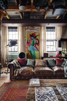 Midlife Crisis Loft | Lev Lugovskoy #Loft #Deco #Home #Living #Decoration #Apartment