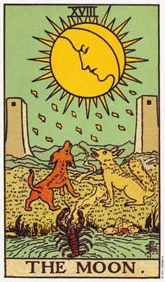 27/01/15 - Rider Waite Tarot ~ The Moon