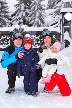 The Duke and Duchess of Cambridge, Prince George and Princess Charlotte - ski vacation to the French Alps