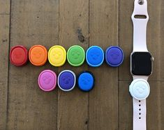 MagicBand 2 puck holder SweetCookieCutters on Etsy Custom Cookie Cutters, Custom Cookies, Magic Band 2, Apple Watch Leather, Black Silver, Rose Gold, Watches, Unique Jewelry