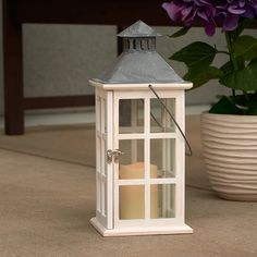Smart Design Camden Lantern With Led Candle From Hayneedle Lanterns Lanternsled Candlesenchanted Gardensmart