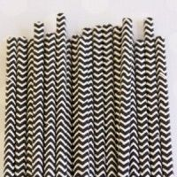 Chevron Paper Straws: Black...awesome!