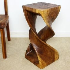 Shop for Monkey Pod Wood Walnut Oil-finished Double Twist Stool (Thailand). Get free delivery at Overstock.com - Your Online Furniture Shop! Get 5% in rewards with Club O!