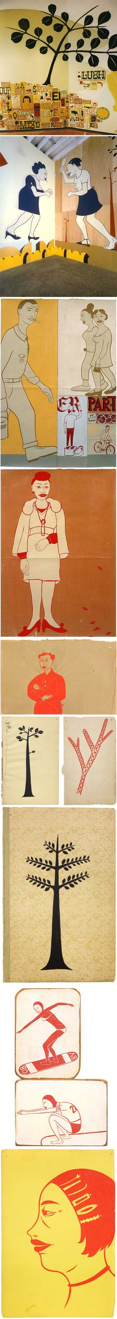Margaret Kilgallen. I want one of her pieces so bad.