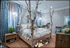 Native American Bedroom Decor Lovely forest Wallpaper for Bedroom Forest Theme Bedrooms, Forest Bedroom, Bedroom Themes, Home Decor Bedroom, Bedroom Ideas, Bedroom Designs, Bedroom Furniture, Furniture Sets, Extreme Makeover Home Edition