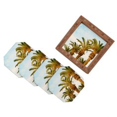 Catherine McDonald Some Place Sunny And Warm Coaster Set | DENY Designs Home Accessories