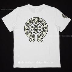 c5ec4ec12cd5 2014 Chrome Hearts Black Sequin Horshoes White T-shirt for Men  Chrome  Hearts Short T-shirt  -  138.00   Got this in black for women and love it