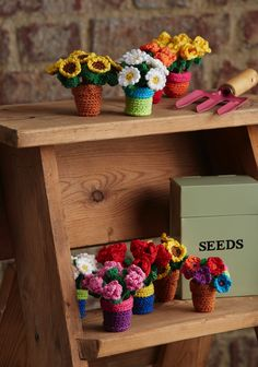 Blooming lovely! Crochet yourself a whole woolly garden with Anja Toonen's cute potted flowers from issue 47