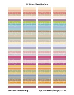Erin Condren Time of Day Header Labels - Free Planner Printable Stickers - My Planner Envy