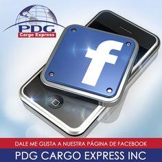 Ya nos sigues en facebook? Búscanos PDG Cargo Express INC, #PDGCargoExpress