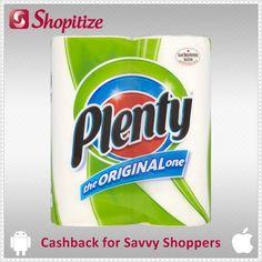 Exclusive Cashback on Plenty Kitchen Towel White via Shopitize free app | iOS - http://j.mp/ShopitizeiOS | Android - http://j.mp/ShopitizeGP