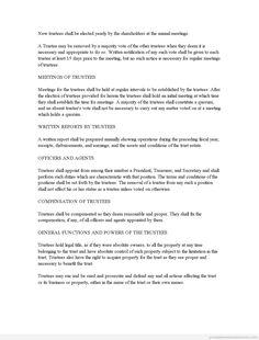 Printable Sample business trust agreement Form