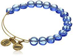 "Alex and Ani ""Bangle Bar Color Palette"" Sapphire Luxe Yellow-Gold Expandable Bracelet Strand Bracelet, Bangle Bracelets, Alex And Ani Bangles, Women Smoking, Sapphire, Charmed, Beads, Gold, Stuff To Buy"