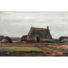 Reprodukcje obrazów Vincent van Gogh Farm with Stacks of Peat - Fedkolor
