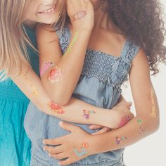 Menagerie Set by Amy Blay from Tattly Temporary Tattoos. Fake tattoos by real artists! Temp Tattoo, Tattoo Set, Tattoos For Kids, Fake Tattoos, Temporary Tattoo Designs, Temporary Tattoos, Tattly Tattoos, Modern Nursery Decor, Cool Mom Picks