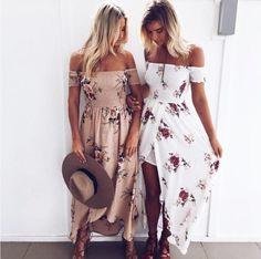 Boho Style Long Dress - Women Off Shoulder Summer Dresses