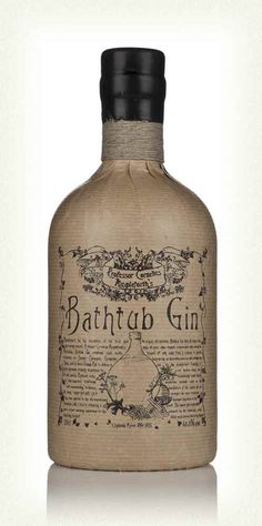 Bathtub Gin #packaging #spirits #gin