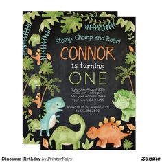 Shop Dinosaur Birthday thank you cards created by PrinterFairy. Dinosaur First Birthday, Boy First Birthday, Animal Birthday, 1st Birthday Parties, Dinosaur Party, Birthday Ideas, Dinosaur Cake, Elmo Party, Elmo Birthday