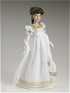 Tiny Kitty Tonner doll (10 inch) wearing Empire style dress in white. I believe this was issued for sale in 2006.