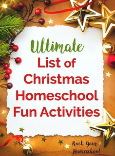Create Special Memories With Your Kids In Homeschool This Christmas Find Ideas Inspiration