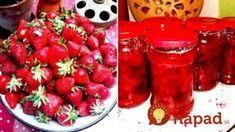Žiaden želírovací cukor ani chémia: Neprekonateľný recept na jahodový džem podľa prababky, taký v obchode nekúpite! Home Canning, Something Sweet, Pickles, Ham, Salsa, Food And Drink, Strawberry, Gluten Free, Sweets