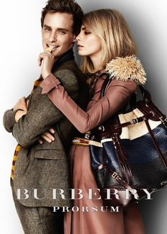 Eddie Redmayne for Burberry.