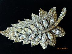 Bogoff Leaf Brooch by PhiasJewels on Etsy