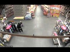Home Depot Robbery  On August 6, 2012, two armed suspects entered the Home Depot store at 4707 E. Bannister, and demanded money.  They pointed guns at several people including a small child, and held several people at gunpoint before fleeing with a register drawer.  If anyone has any information that can help police, please call the TIPS Hotline at 816-474-TIPS (8477) point gun, surveil video, depot store, crime fighter