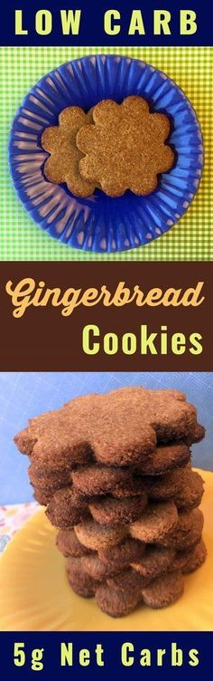 This recipe for Gingerbread Cookies is Low Carb, Keto, Paleo, Atkins, THM Sugar Free and Gluten Free.