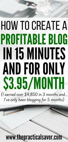 Are you looking to create a blog a monetize it but don't want to spend a lot? Then, this post will show you how to create a blog. It will show you how to create a blog in 15 minutes and for only $3.95 or less.