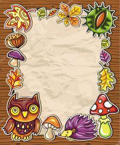 Download - Autumnal frame 3 — Stock Illustration #6478576