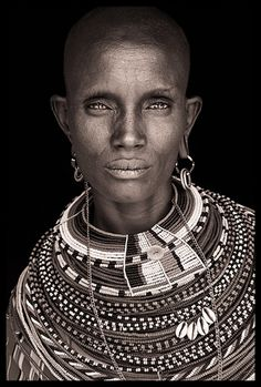 Northern Kenya, Portrait by John Kenny John Kenny, We Are The World, People Of The World, My Black Is Beautiful, Beautiful People, Photography Gallery, Portrait Photography, Tribal People, African Tribes