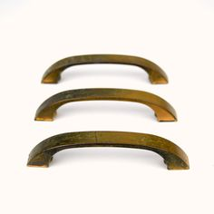 3 Modern Salvaged Aged Copper Pull Handles by TahomaSalvageSupply