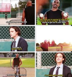 Derek Morgan and Spencer Reid, Criminal Minds.  This scene was GREAT