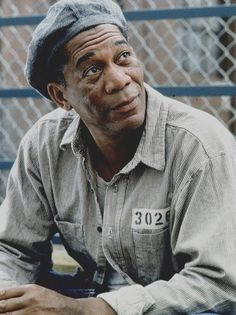 Morgan Freeman in The Shawshank Redemption. One of my all time favorite books and movies!