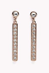 My Tommy Hilfiger NYE Stunning pave earrings with a Swarovski Crystal studded drop. Stud closure.