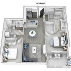 apartment floor plans Super ideas for apartment layout floor plans luxury Sims House Plans, House Layout Plans, House Layouts, Small House Plans, House Floor Plans, Apartment Furniture Layout, Apartment Layout, Apartment Design, Home Design Plans