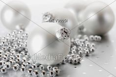 Silver #Christmas Decorations #StockPhoto
